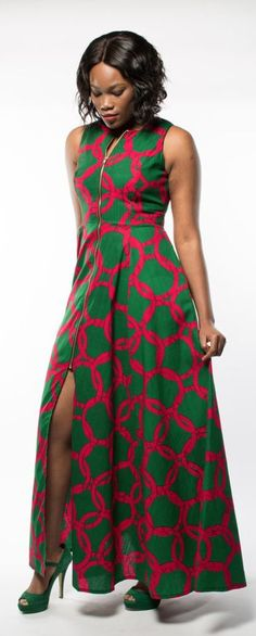 A Breathtaking Ankara Maxi Dress with the Aurora What a gorgeous way to style African print this! The unique combination makes this ankara playsuit enticing! Definitely trying this fall style soon. Latest African Fashion Dresses, African Print Dresses, African Dresses For Women, African Print Fashion, Africa Fashion, African Attire, African Wear, African Women, African Prints