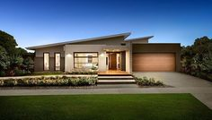 The Cosgrove by Dennis Family Homes, Find all of Greater Geelong Display Homes, Villages, Builders on one easy site. Search Builders, Displays & Floor plans by images or on maps along with their House & Land Packages. Bungalow House Design, House Front Design, Modern House Design, Bedroom House Plans, Dream House Plans, Modern House Plans, House Roof, Facade House, Modern House Facades