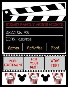 Disney Family Movie Nights - Ideas to plan fun nights before your next Disney World trip