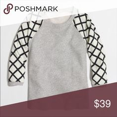 J.Crew Factory Mixed Media Sweatshirt Go casual while still looking put together with this stylish sweatshirt. Polyester blouse-like sleeves J.Crew Factory Tops Sweatshirts & Hoodies