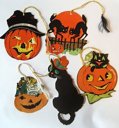 vintage halloween paper decorations reminds me of alexander elementary