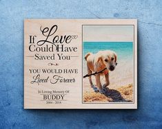 Customized photo pet memorial via Etsy
