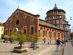 Santa Maria delle Grazie | Milano, Italy - Built 1463-1497, The Last Supper wall painting by Leonardo da Vinci is here, but is available for limited viewings by visitors.