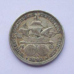 1893 Columbian Expo World Fair Silver Coin