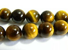 Round Tiger Eye Gemstone Beads 8.0 mm Grade by KolibriBeadSupplies