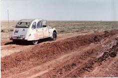 Citroen 2CV raider in Outback Australia.