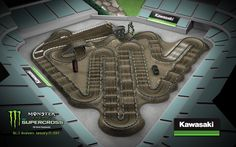 The Monster Energy AMA Supercross at Angel Stadium in Anaheim Dirt Bike Track, Rc Track, Motocross Tracks, Enduro Motocross, Jump Park, Skate Park, Dirtbike Memes, Percy Jackson, Monster Energy Supercross