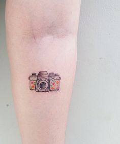 Camera tattoo TPM - Tatuagem Para Mulheres