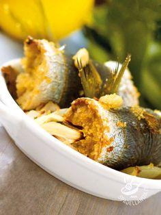 Sardinian warbler in Palermo - Servite le Sarde a beccafico alla palermitana in pirofile monoporzione per un brunch dal sapore di mare: sarà un ottimo finger food da spilluzzicare. #sardebeccafico