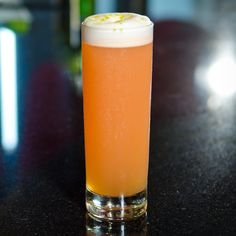 Soda Jerk -  2 oz Blanco tequila .5 oz Campari .5 oz Lime juice .5 oz Passion fruit puree (unsweetened) .5 oz Vanilla Bean-Infused Agave Syrup* .5 oz Egg white 2 oz Cream soda