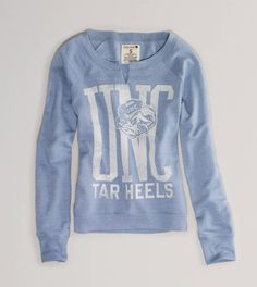 Women's UNC Vintage Fleece Popover I love this so much it looks so comfortable xD oh and go UNC!!!!!!