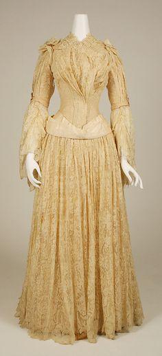 Late 1800s evening dress