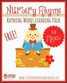 Nursery Rhyme Rhyming Words Learning Pack