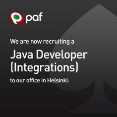 Paf is looking for a Java Developer to their Helsinki office! / Paf etsi Java-kehittäjää - onko sinulla kahden vuoden työkokemus Javasta? Lue lisää! #Paf #työpaikka #rekry #work #työ #Java Helsinki, Java, Job Opening