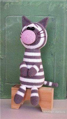 Кот - вязание игрушки крючком, описание