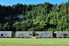 A a complex of ten modern villas located in the stunning volcanic Furnas basin in São Miguel, Azores. The villas are made from locally grown Japanese cedar wood, the trees having been introduced to the islands 200 years ago. Spain And Portugal, Portugal Travel, Spain Travel, Portugal Trip, Lake Villa, Whale Watching Tours, Lake Forest, Villa Design, Saint Michael