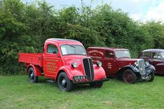 Fordson Thames E83W 10 cwt pick up truck and Morris 8 van