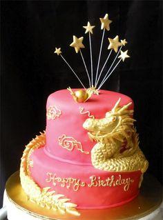dragon cake birthday  ----------- #china #chinese