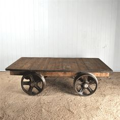 Coffee table on casters