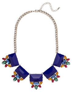 ON SALE Statement Necklace Bib Necklace Blue by VivaLaJewel, $32.40