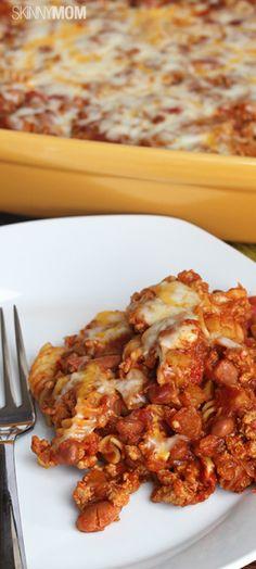 Skinny Chili Mac Casserole  www.skinnymom.com/the-supper-club-by-skinny-mom/