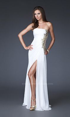 Elegant Strapless Evening Gown by La Femme at SimplyDresses.com