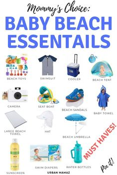 Planning to take your baby to the beach? Find out what are the top must pack baby beach essentials you must take with you! Mommy tips and hacks for taking your baby to the beach or to the pool - CLICK HERE>