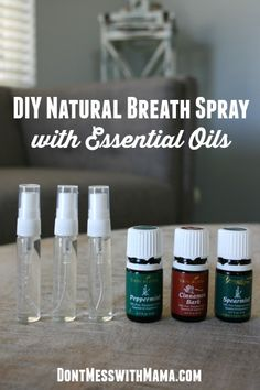 Want a natural way to freshen your breath without the harsh toxins? I've got the simplest DIY Natural Breath Spray recipe that you can customize with your favorite flavors. Yl Essential Oils, Young Living Essential Oils, Essential Oil Blends, Essential Oil Spray, Young Living Oils, Beauty Tips, Beauty Care, Beauty Products, Beauty Hacks
