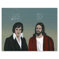 My design inspiration: Jesus vs. Elvis on Fab.