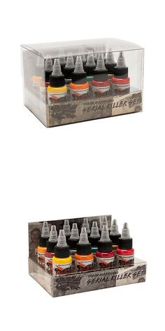 Tattoo Inks: World Famous Usa Tattoo Ink Jason Ackernan Seral Killer Set 12 Colors -1Oz BUY IT NOW ONLY: $89.72