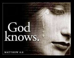 God knows.He knows every hair on your head. ..And He is the Only hope . Thank you Jesus. Take us where we need to be Lord. amen.