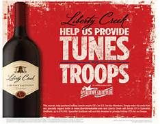 Liberty Creek Wines Supports Operation Gratitude #libertycreekwine #operationgratitude #military #holidays #thankyou #tunesfortroops #wine