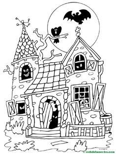 Feliz Halloween   Dibujos Halloween para colorear - Primaria - Web del maestro Halloween Coloring Pictures, Halloween Drawings, Halloween Coloring Pages, Cute Coloring Pages, Animal Coloring Pages, Adult Coloring Pages, Halloween Pictures, Coloring Books, Casa Halloween