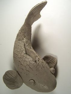 Clay Koi Fish by on DeviantArt - keramika - ., Clay Koi Fish by on DeviantArt - keramika - . Some sort of solo determine sleeping their mind among firmly ended hands, clasping bent knees in addition to shoulders. Fish Sculpture, Pottery Sculpture, Pottery Art, Pottery Ideas, Wolf Sculpture, Pottery Animals, Ceramic Animals, Clay Animals, Ceramics Projects