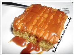 Brown cake with caramel