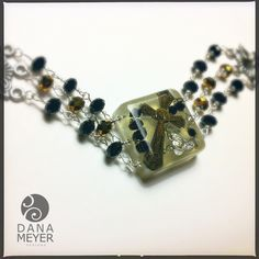 Rosary Bracelet Made from Reclaimed and Recycled Vintage Rosary Parts #danameyerdesigns #resin #reclaimedobjects #recycled