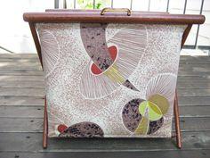 My favorite knitting basket.  1950s, by Henry Seligman of NY, NY.