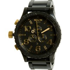 Number 7: Nixon 51-30 Chrono Watch - Mens 300 metres water resistance. What makes this watch is the colour combination black and gold.