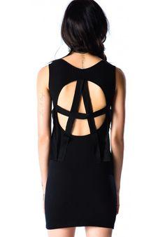 Lip Service Anarchy Twill Back Dress