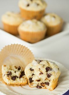 Chocolate Chip Muffins - A perfect, sweet start to your mornings!   browneyedbaker.com