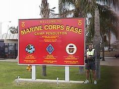 Camp Pendleton Marine Corps Base Oceanside, California Where my husband was stationed (man pictured is not MY husband) Once A Marine, Marine Mom, Marine Corps Bases, Yuma Arizona, Oceanside California, Camp Pendleton, Us Marines, Military Life, Pacific Coast