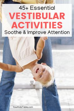 Proprioceptive Activities, Vestibular System, Sensory Activities, Infant Activities, Sensory Bags, Sensory Diet, Sensory Bottles, Child Development Activities, Sensory Therapy