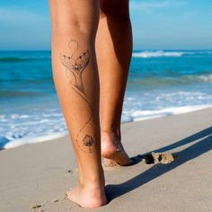 beach anklet tattoos for women Trendy Tattoos, Cute Tattoos, Leg Tattoos, Body Art Tattoos, Girl Tattoos, Small Tattoos, Beachy Tattoos, Tatoos, Mermaid Tail Tattoo