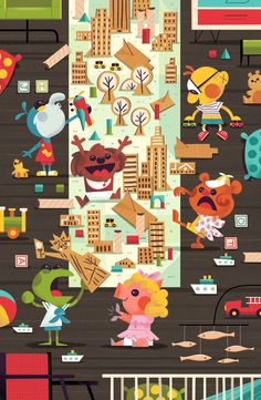 Taking Tiny Manhattan for Bottleneck Gallery's It Came From 1984 show, Andrew Kolb