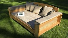 Arcut Teak Daybed with Cushions