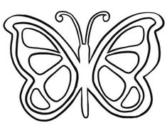 Butterfly Wings Pattern Use The Printable Outline For Crafts Creating Stencils Scrapbooking