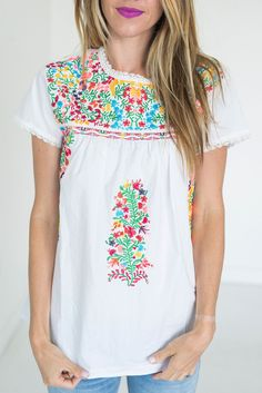 Gabby Embroidered Top (Small)