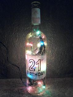 Lighted UV Cake Inspired Bottle Decorative by SchulersGlassDecor, $17.50
