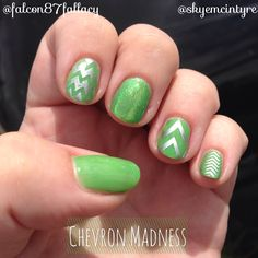 Chevron Madness! Love it! CND Shellac Manicure from the Darling Skye  ( http://www.skyemcintyre.com.au/ )  Using new Paradise Collection!  #paradisecollection #cnd #shellac #nails #chevron