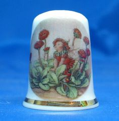 Porcelain China Collectable Thimble Meadow Fairy Box
